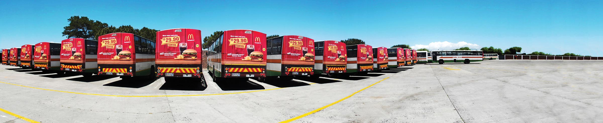 Macdonalds Bus Campaign panoramic